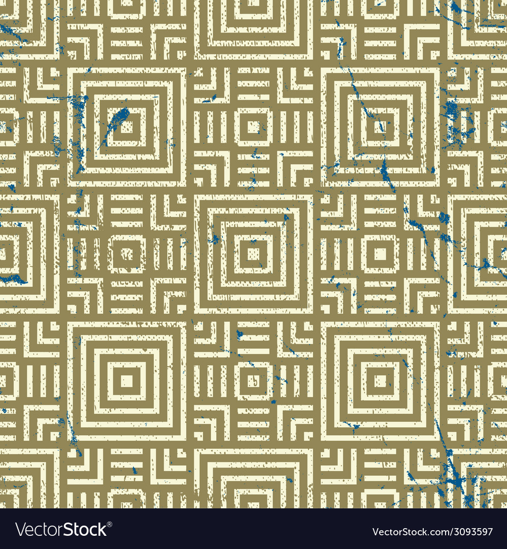 Old geometric seamless pattern vintage repeat vector   Price: 1 Credit (USD $1)