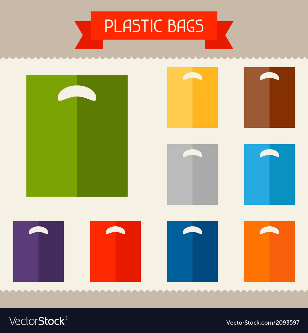 Plastic bags colored templates for your design in vector | Price: 1 Credit (USD $1)