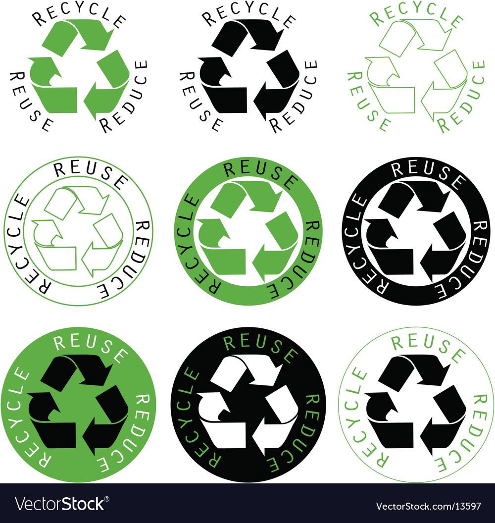 Recycle reuse reduce symbols vector | Price: 1 Credit (USD $1)