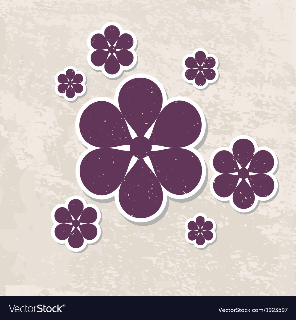 Retro floral greeting card vector | Price: 1 Credit (USD $1)