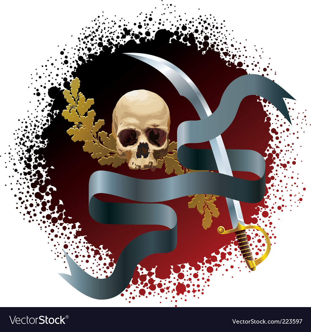 Skull on bloody background vector | Price: 1 Credit (USD $1)