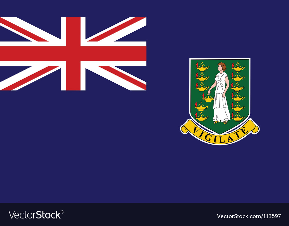 Virgin islands uk flag vector | Price: 1 Credit (USD $1)
