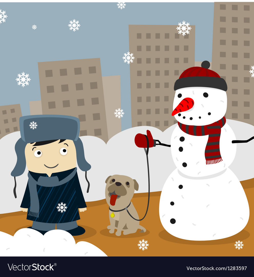 Winter in the city vector | Price: 3 Credit (USD $3)