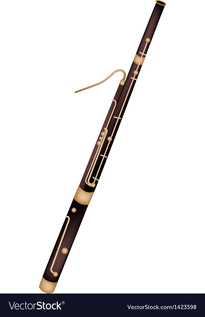 A classical bassoon isolated on white background vector | Price: 1 Credit (USD $1)