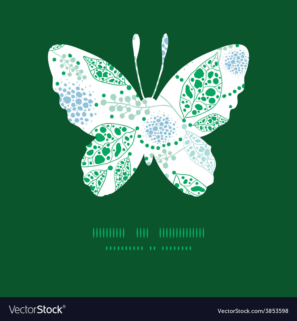 Abstract blue and green leaves butterfly vector | Price: 1 Credit (USD $1)