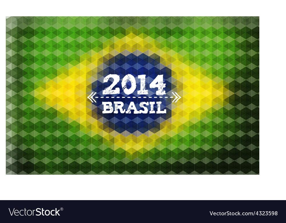 Background with brasil flag 2014 brasil lettering vector   Price: 1 Credit (USD $1)