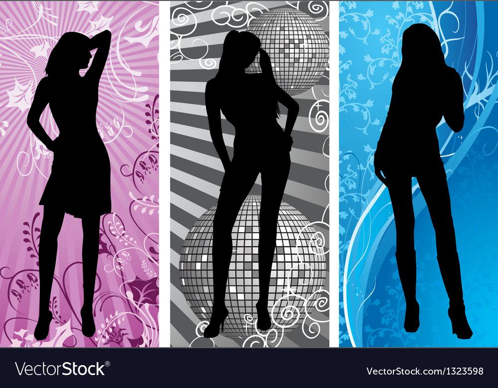 Disco silhouette vector | Price: 1 Credit (USD $1)