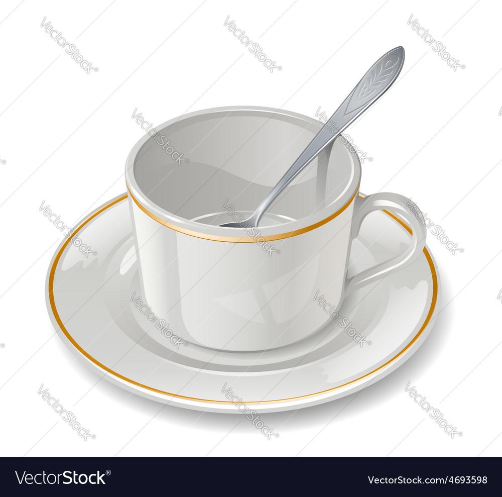 Empty cup vector | Price: 1 Credit (USD $1)