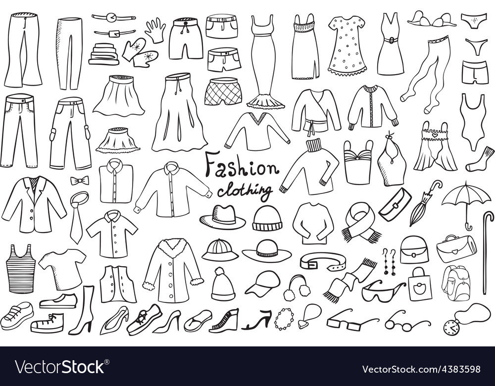 Fashion and clothing icons collection vector | Price: 1 Credit (USD $1)