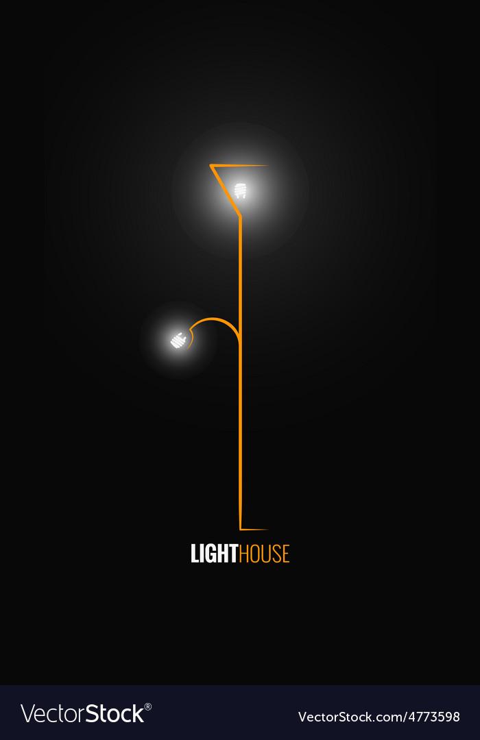 Floor lamp design background vector | Price: 1 Credit (USD $1)