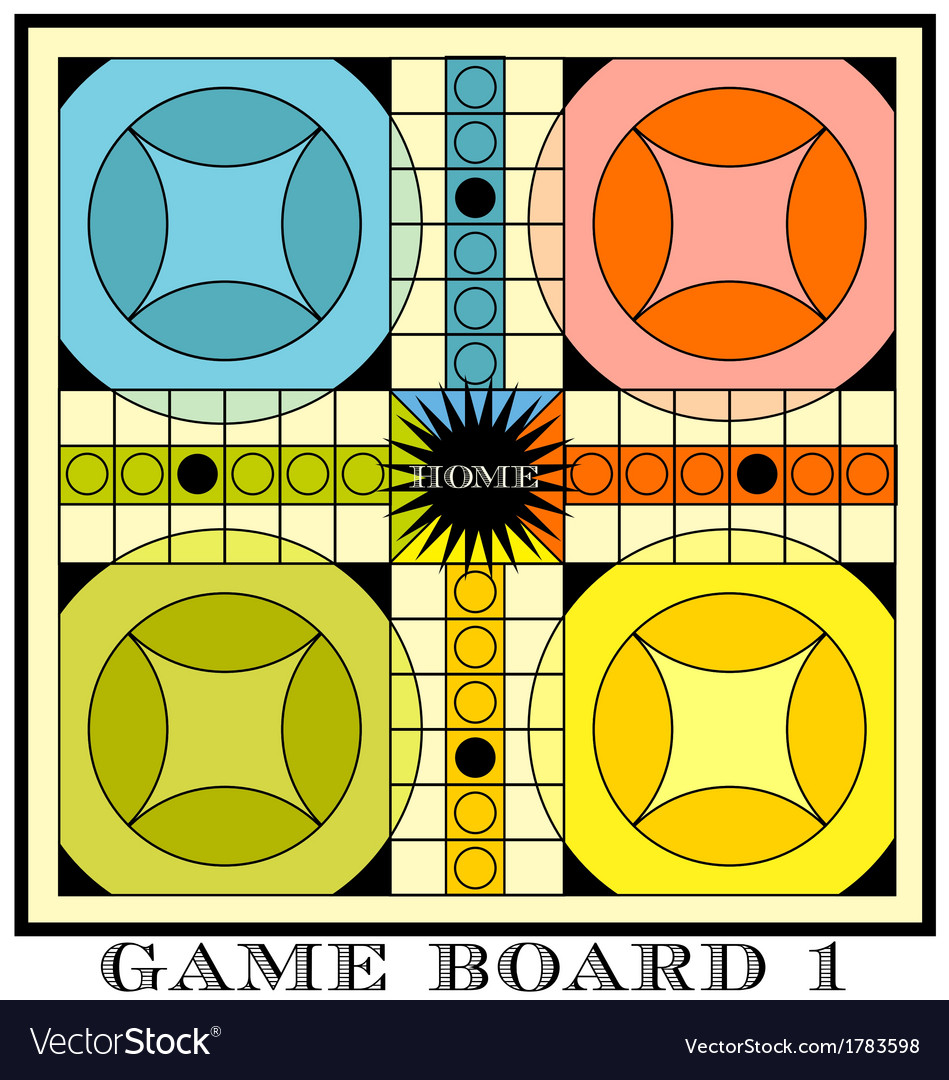 Game board for parcheesi vector | Price: 1 Credit (USD $1)