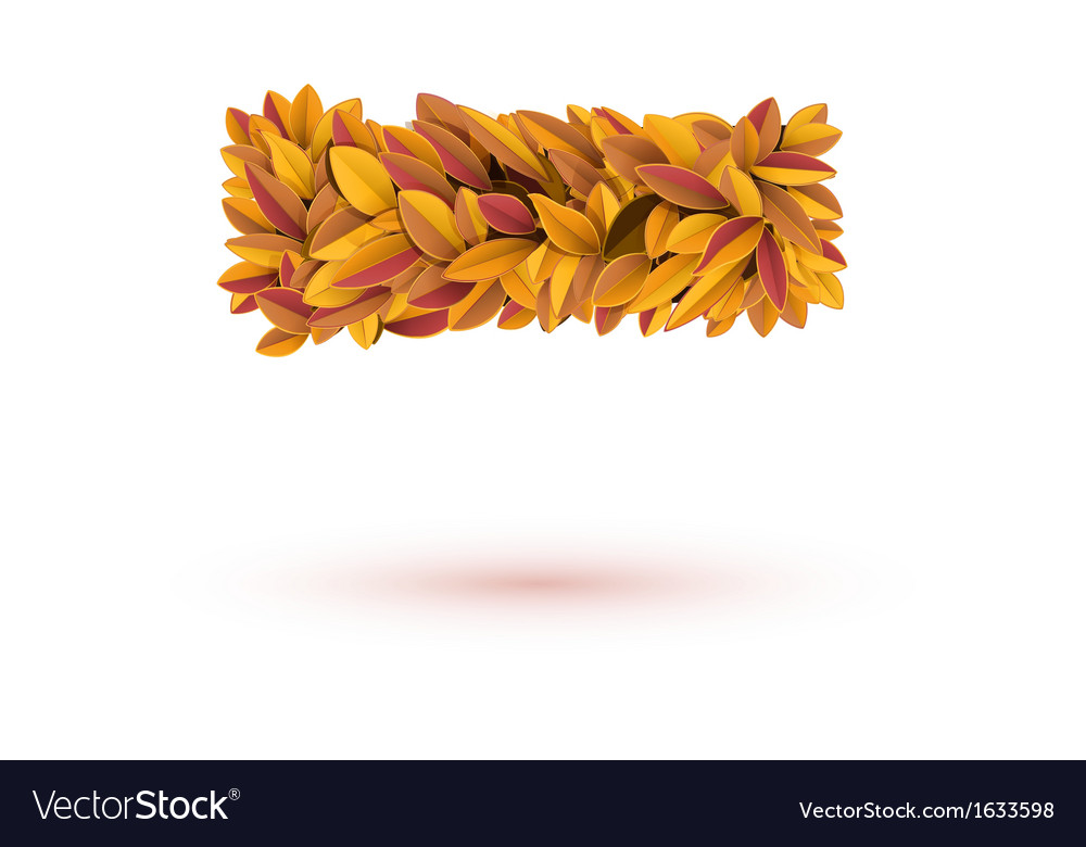 Minus mark of autumn fall bright orange leaves vector | Price: 1 Credit (USD $1)