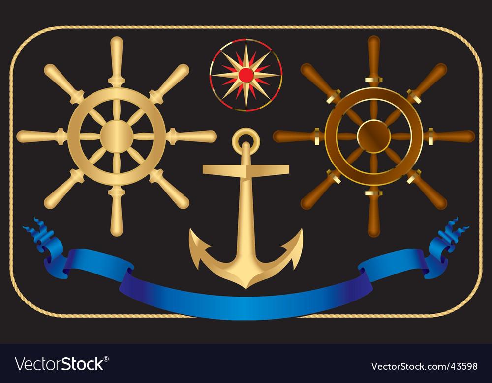 Nautical steering-wheels vector | Price: 1 Credit (USD $1)