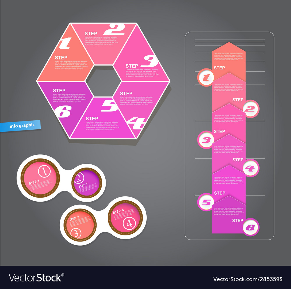 Set of pink labels for wide variety of use vector | Price: 1 Credit (USD $1)