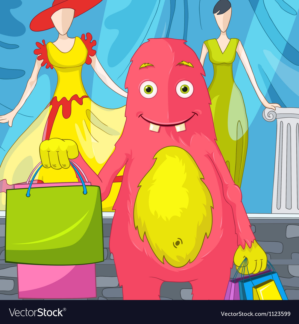 Funny monster vector   Price: 1 Credit (USD $1)