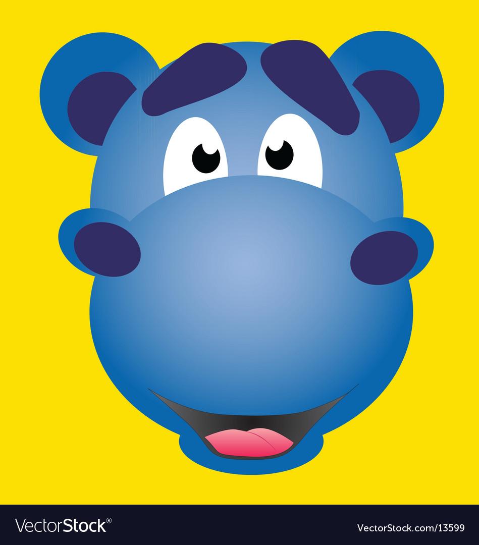 Mascot hippo vector