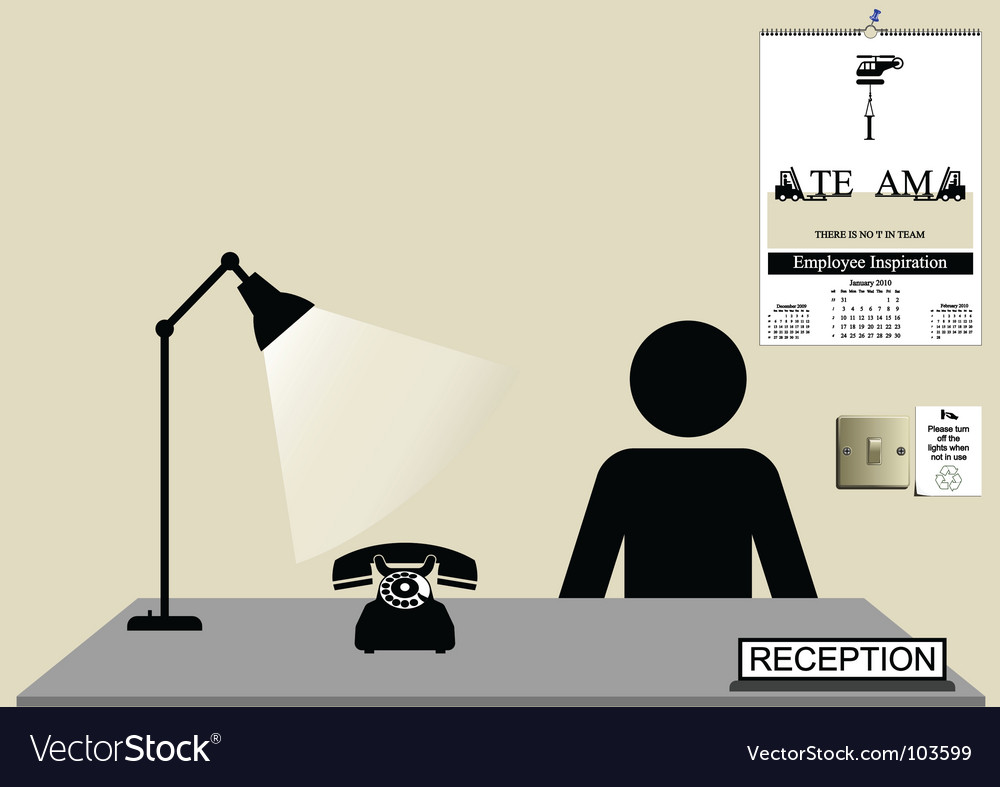 Reception desk vector | Price: 1 Credit (USD $1)