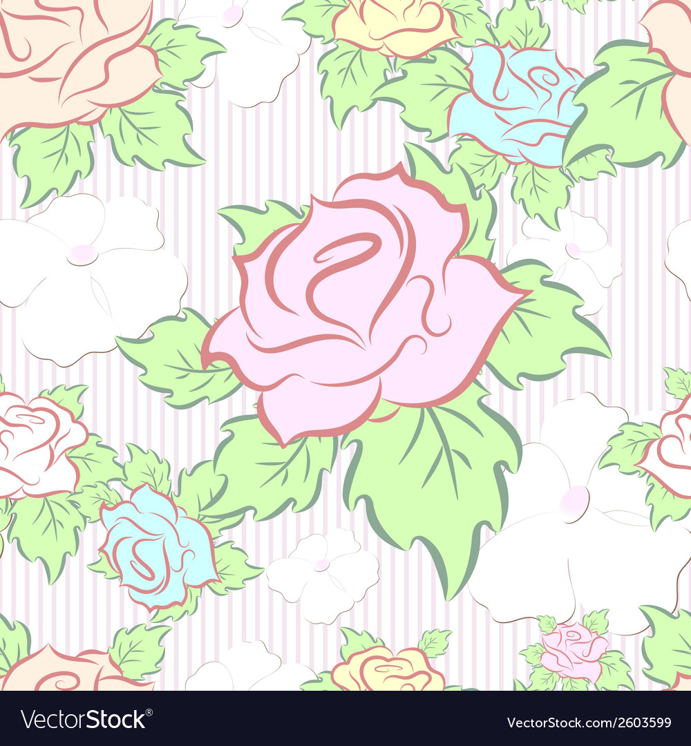 Seamless pattern consisting of flowers vector   Price: 1 Credit (USD $1)