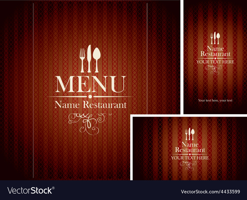 Set design restaurant vector | Price: 3 Credit (USD $3)