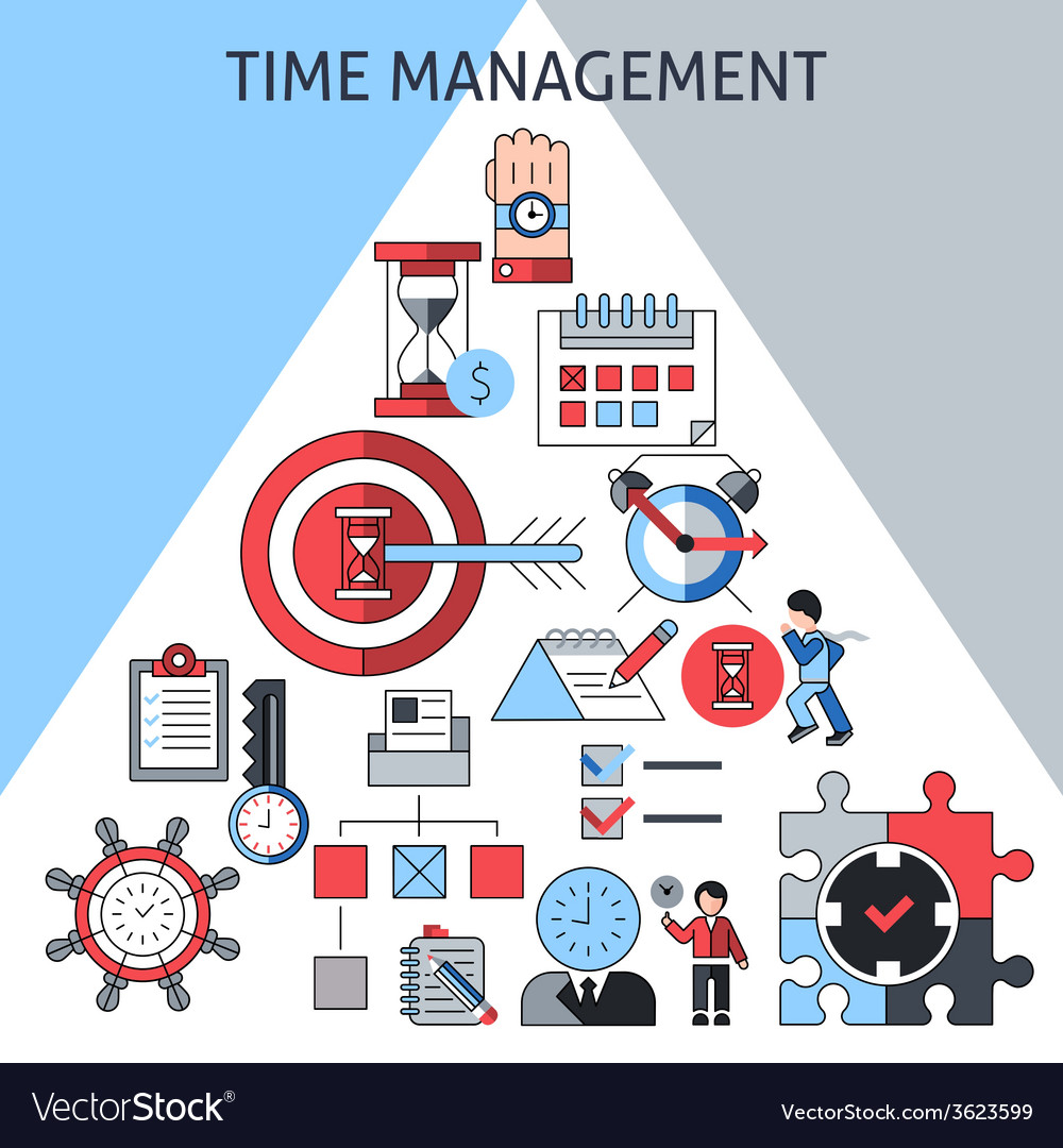 Time management concept vector | Price: 1 Credit (USD $1)