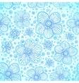 Blue colors romantic flourish seamless pattern vector