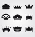 Monochrome vintage antique crowns vector