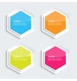 Set of multicolored glowing plastic banners vector