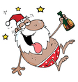 Drunk african american santa clause vector