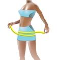 Girl measuring hips vector