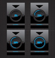 Black glass download progress bar vector