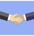 Handshake - business flat vector