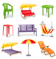 Garden furniture icon set vector