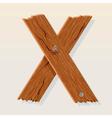Wooden letter x vector