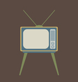 Flat design vintage tv vector