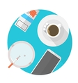 Flat icon for break table vector