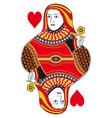 Queen of hearts no card vector