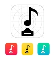 Music icon on white background vector