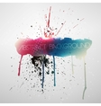 Paint splat grungy background vector