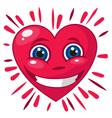 Smiling heart 3d vector