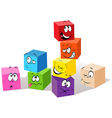 Colorful childish cubes vector