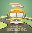 School bus concept design background vector