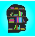 Head library - flat concept vector