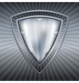 Abstract steel shield vector