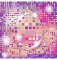 Easter egg crystall pink glass spring concept vector