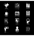 Business and time icons vector