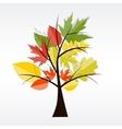 Shiny autumn natural tree background vector