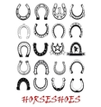 Isolated horseshoe symbols set vector