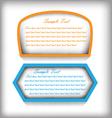 Text box vector