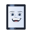 Smiling tablet computer vector