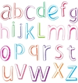 Hand drawn alphabet letters vector